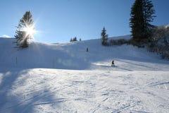 Montagne della neve di inverno Fotografia Stock Libera da Diritti