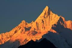 Montagne della neve di Meili Fotografie Stock Libere da Diritti