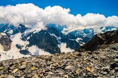 Montagne della neve di Titlis nelle alpi della Svizzera Immagine Stock Libera da Diritti