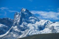 Montagne della neve nel Perù Fotografie Stock