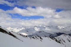Montagne della neve in Tavate Fotografia Stock