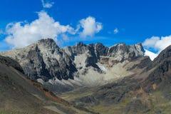 Montagne della roccia, le Ande Fotografia Stock
