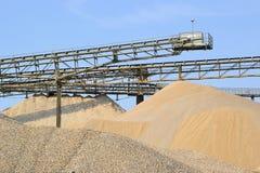 Montagne della sabbia e della ghiaia Immagine Stock Libera da Diritti