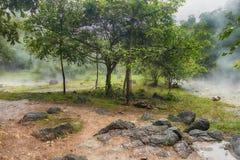Montagne della sorgente di acqua calda, Immagine Stock