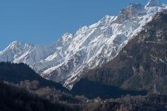 Montagne della valle d'Aosta Fotografia Stock