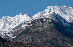 Montagne della valle d'Aosta Immagini Stock