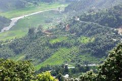 Montagne della valle di Pokhara Immagine Stock