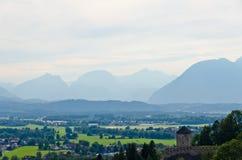 Montagne delle alpi Fotografie Stock