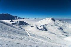 Montagne delle alpi di inverno Immagine Stock Libera da Diritti