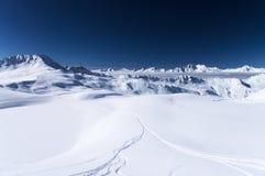 Montagne delle alpi di inverno Fotografie Stock