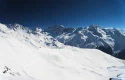 Montagne delle alpi di inverno Immagini Stock