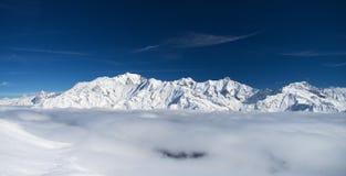 Montagne delle alpi di inverno Immagini Stock Libere da Diritti