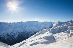Montagne delle alpi di Otztal Fotografie Stock Libere da Diritti