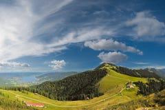 Montagne delle alpi di panorama Fotografia Stock Libera da Diritti