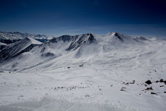 Montagne delle alpi di Snowy in Tirolo Immagini Stock Libere da Diritti