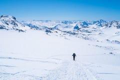 Montagne delle alpi nell'inverno Fotografie Stock Libere da Diritti