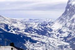 Montagne delle alpi nell'inverno Immagine Stock Libera da Diritti
