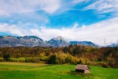Montagne delle alpi in Slovenia Fotografia Stock Libera da Diritti