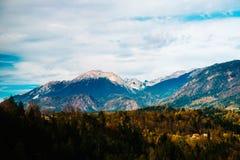 Montagne delle alpi in Slovenia Immagine Stock