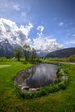 Montagne delle alpi, Zugspitze Immagine Stock Libera da Diritti