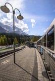 Montagne delle alpi, Zugspitze Immagini Stock Libere da Diritti