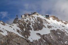 Montagne delle alpi, Zugspitze. Immagine Stock