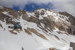 Montagne delle alpi, Zugspitze. Fotografia Stock Libera da Diritti