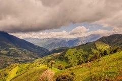 Montagne delle Ande nell'Ecuador rurale Fotografia Stock