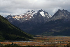 Montagne delle Ande, Ushuaia Fotografia Stock Libera da Diritti
