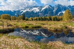 Montagne delle cascate, Washington State Fotografia Stock