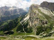 Montagne delle dolomia, Corvara in Badia Alta Badia, Italia Fotografia Stock