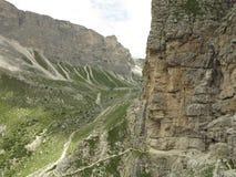 Montagne delle dolomia, Corvara in Badia Alta Badia, Italia Fotografie Stock Libere da Diritti