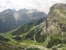 Montagne delle dolomia, Corvara in Badia Alta Badia, Italia Immagine Stock