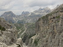 Montagne delle dolomia, Corvara in Badia Alta Badia, Italia Immagini Stock