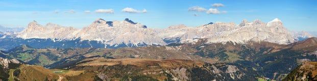 Montagne delle dolomia delle alpi, Italia Fotografie Stock