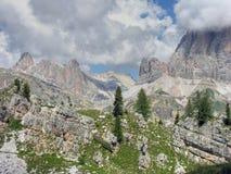 Montagne delle dolomia, Italia, estate 2009 Fotografia Stock