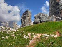 Montagne delle dolomia, Italia, estate 2009 Immagini Stock