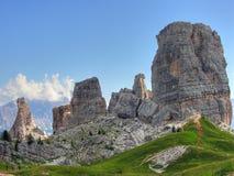 Montagne delle dolomia, Italia, estate 2009 Fotografie Stock Libere da Diritti