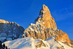 Montagne delle dolomia nelle alpi italiane Fotografia Stock