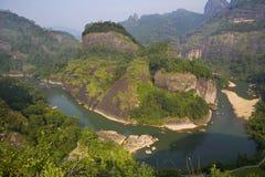 Montagne di âWuyi di vista Immagine Stock