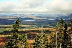 Montagne di Adirondack nella caduta Immagine Stock