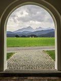 Montagne di Allgau in Fussen Fotografia Stock Libera da Diritti
