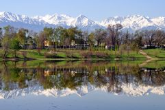 Montagne di Almaty il Kazakistan Fotografie Stock