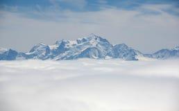 Montagne di Alpes Immagine Stock Libera da Diritti