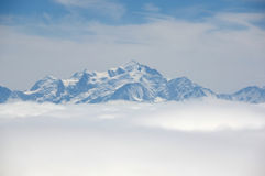 Montagne di Alpes Fotografie Stock