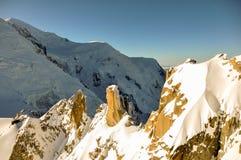 Montagne di Alpes del francese a Chamonix-Mont-Blanc, Francia Fotografie Stock Libere da Diritti