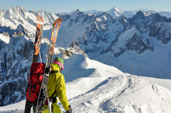 Montagne di Alpes del francese a Chamonix-Mont-Blanc, Francia Immagini Stock
