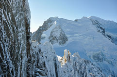 Montagne di Alpes del francese a Chamonix-Mont-Blanc, Francia Fotografia Stock
