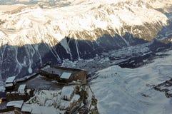 Montagne di Alpes del francese a Chamonix-Mont-Blanc, Francia Immagine Stock Libera da Diritti