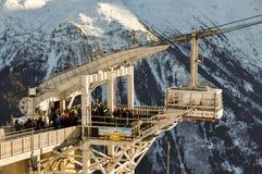 Montagne di Alpes del francese a Chamonix-Mont-Blanc, Francia Fotografia Stock Libera da Diritti
